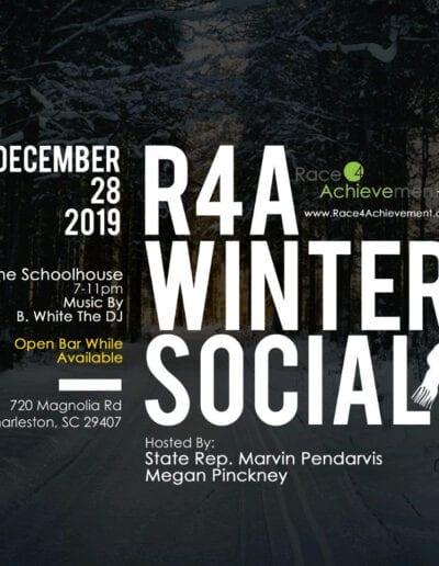 Race for Achievement winter social flyer