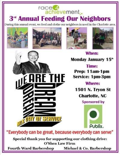 3rd annual feeding our neighbors flyers