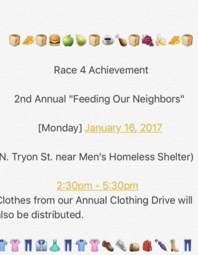 2nd annual feeding our neighbors flyers