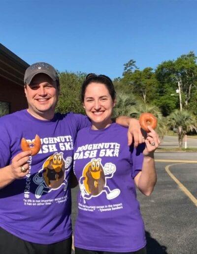 Doughnut dash participants